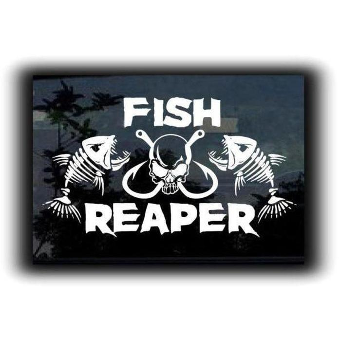 Fish Reaper Fish Hooks Fishing Decal Stickers