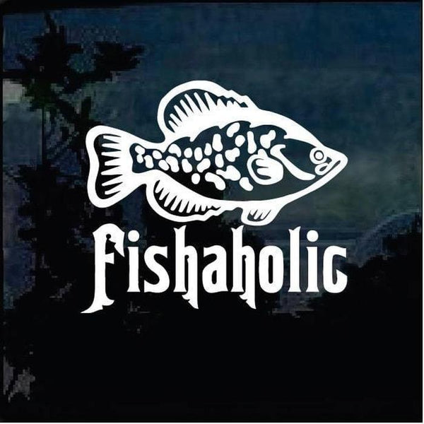 Fishaholic Fishing Decal Stickers A1