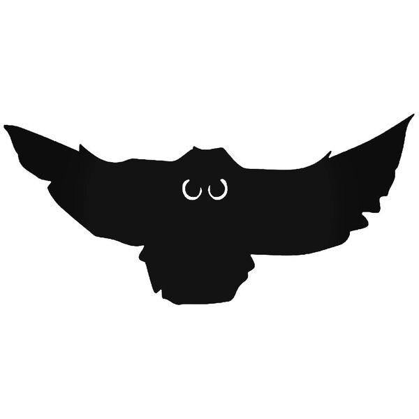 Flying Owl Bird Decal Sticker