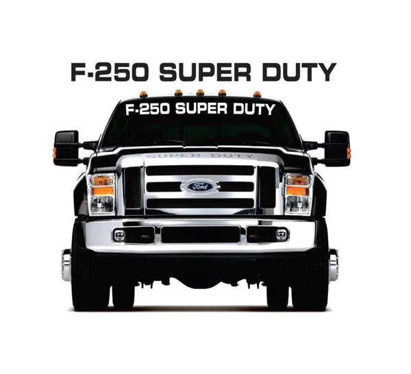 Ford F250 Super Duty Windshield Banner Decal Sticker