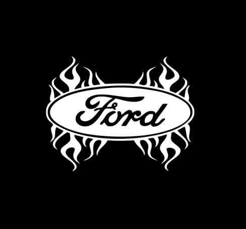 Ford Flames flaming Truck Decal Sticker