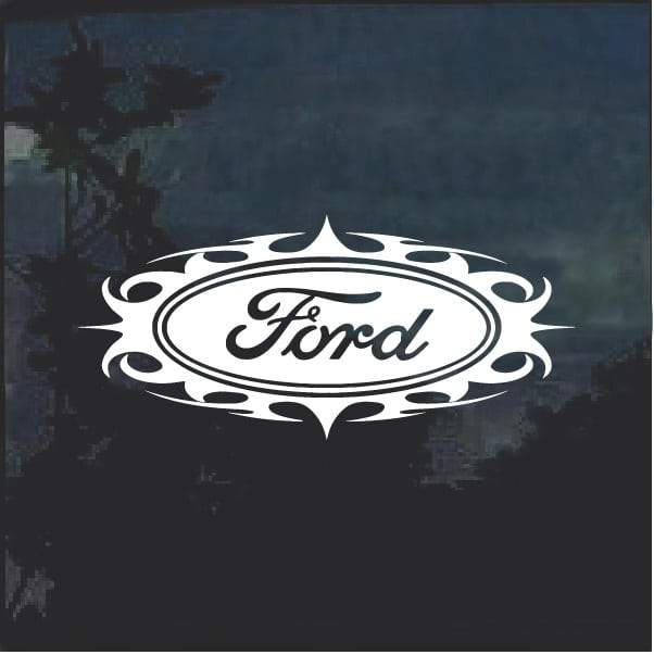 Ford Oval Tribal 1 Window Decal Sticker