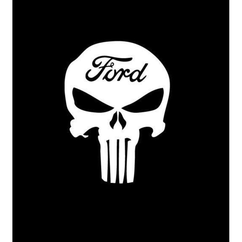 Ford Punisher Skull Decal Sticker