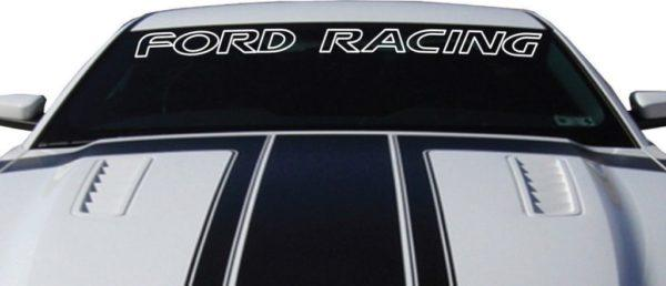 Ford Racing Windshield Banner Decal Sticker Outlined