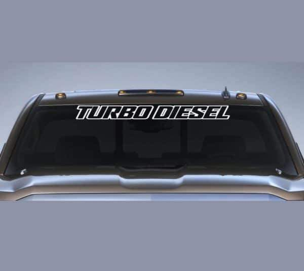 Ford Turbo Diesel Windshield Banner Decal Sticker A2