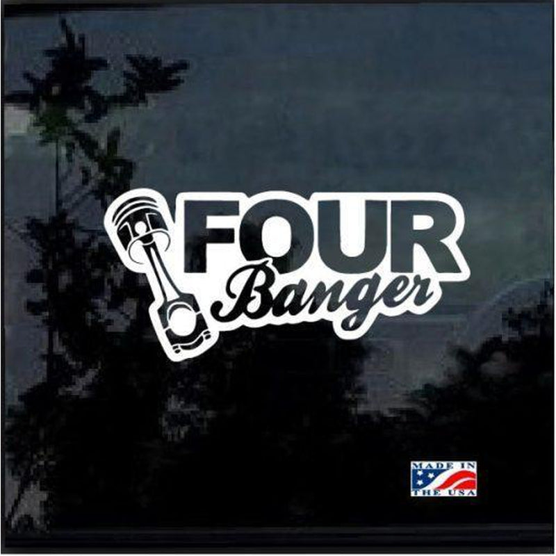 Four Bangin II Funny JDM Car Window Decal Stickers