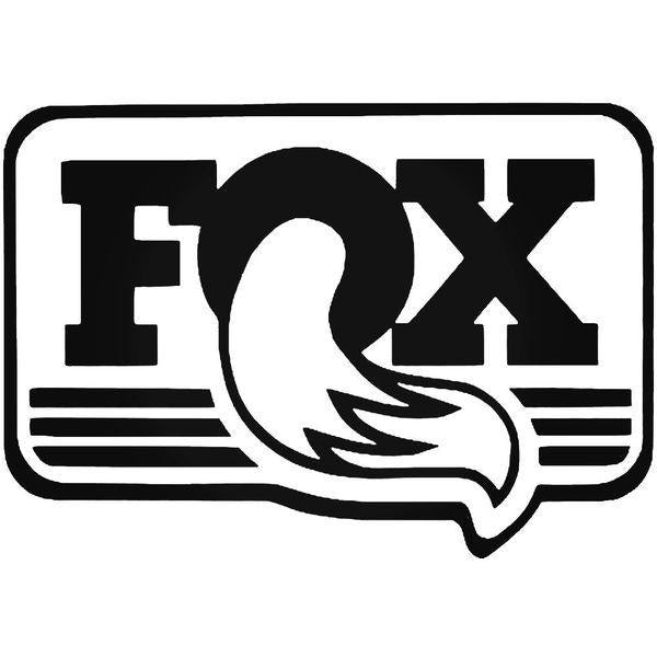 Fox Shocks Heritage Square Cycling Decal Sticker