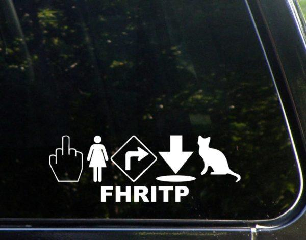 Fred FHRITP Funny Window Decal Sticker