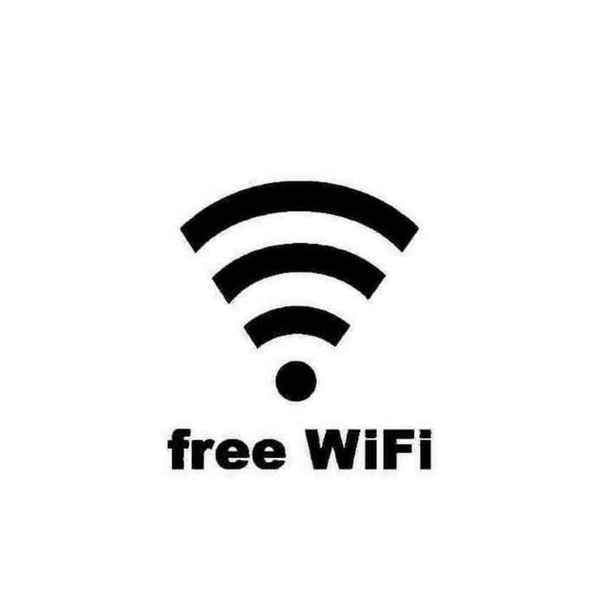 Free Wifi Custom Sign Decal Sticker