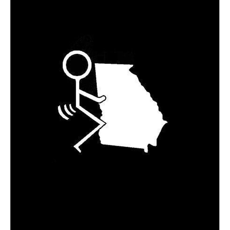 Fuck Georgia State Car Window Decal Sticker