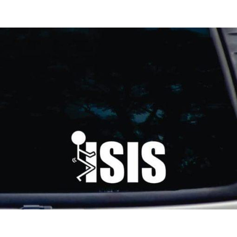 Fuck ISIS a3 Car Window Decal Sticker