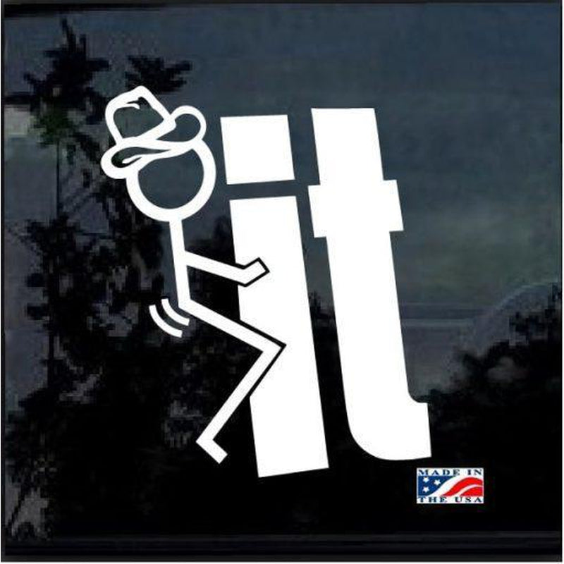 Fuck It Cowboy JDM Car Window Decal Sticker