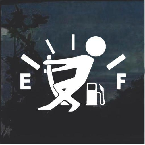 Funny Gas Gauge Decal Sticker