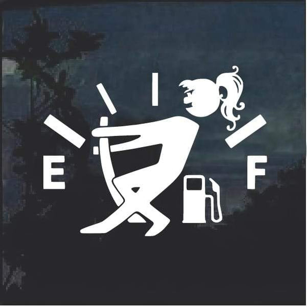 Funny Gas Gauge Female Decal Sticker
