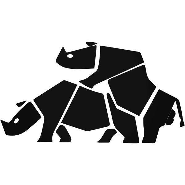 Funny Rhino Sex Decal Sticker