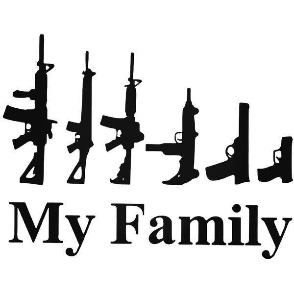 Funnymy Family Guns Decal Sticker