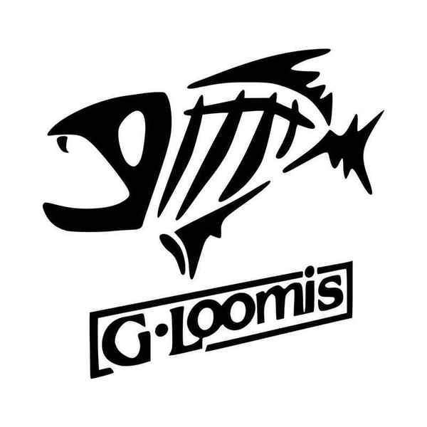 G Loomis Logo With Text Decal Sticker