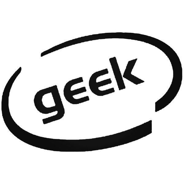 Geek Oval Decal Sticker