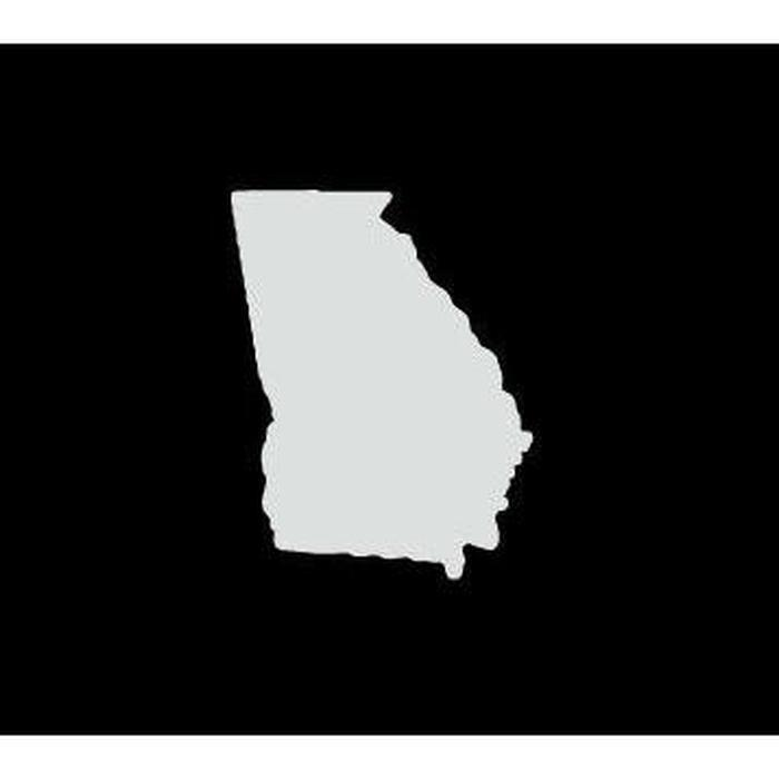 Georgia State Silhouette Truck Decal Sticker