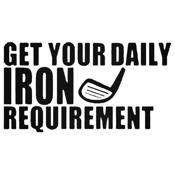 Get Your Daily Iron Decal Sticker