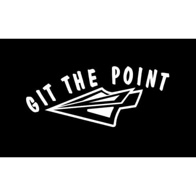 Git the Point Bow Hunting Window Decal Sticker