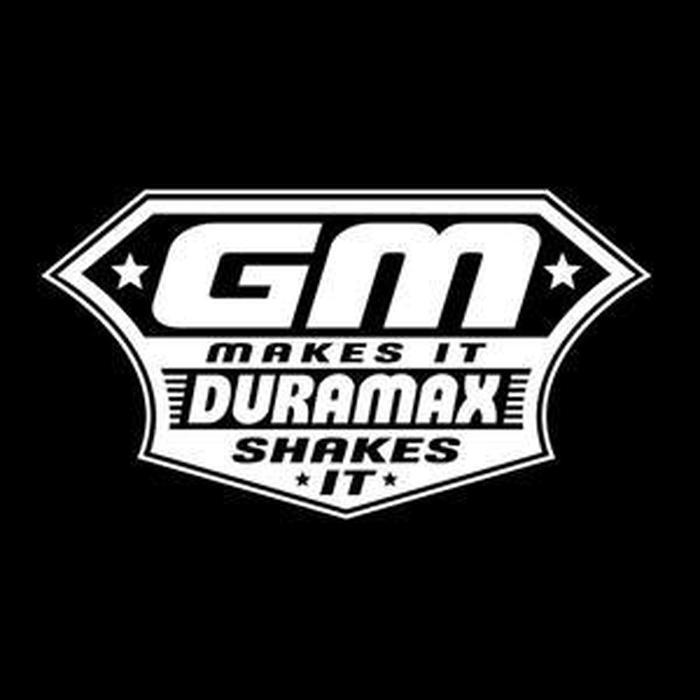 GM Makes Duramax Shakes Truck Decal Sticker