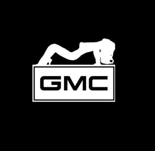 GMC Sexy Mudflap Girl Truck Decal Sticker