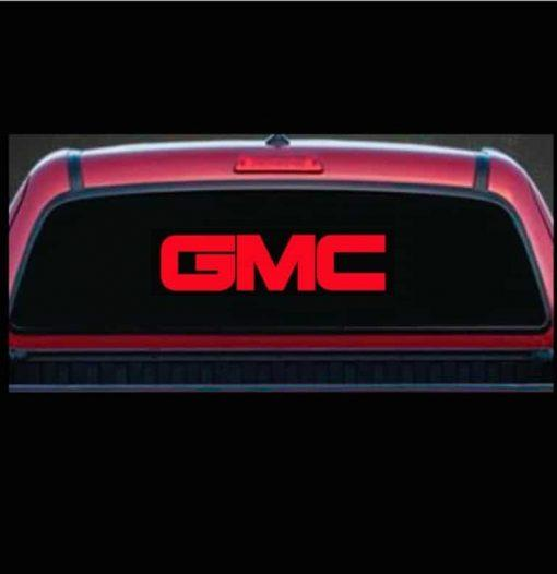 GMC Trucks Rear Window Decal Sticker