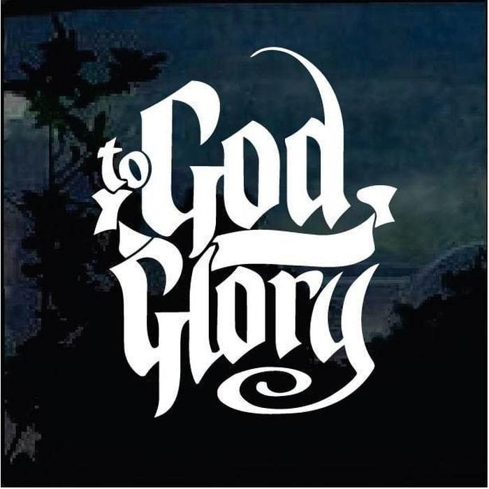 God be the Glory Christian Decal Stickers