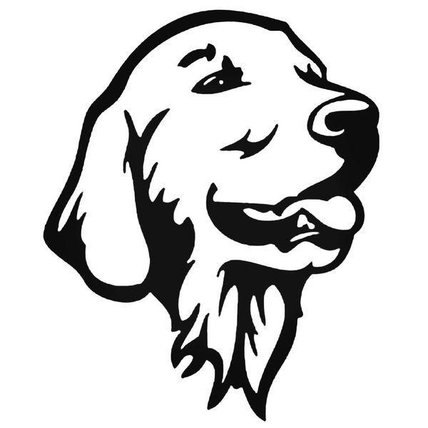 Golden Retriever Rechts Decal Sticker