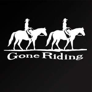 Gone Riding Horse Window Decal Sticker
