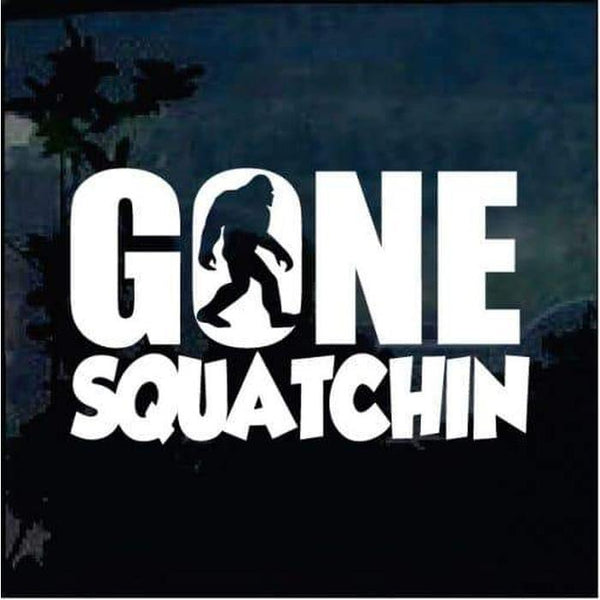 Gone Squatchin decal – Bigfoot stickers