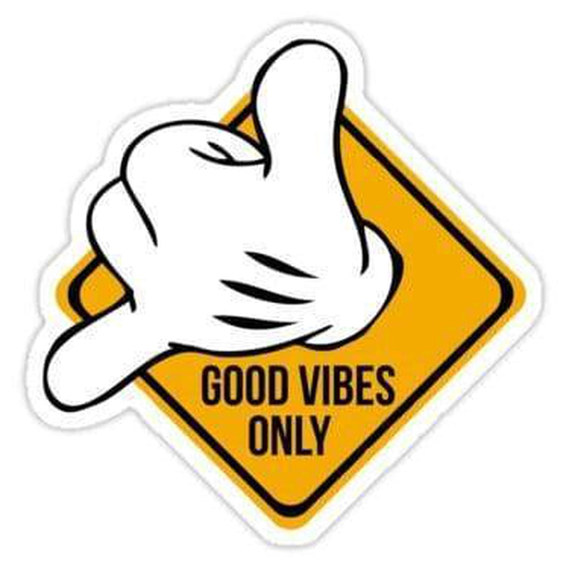 Good vibes hang loose Laptop Decal Stickers