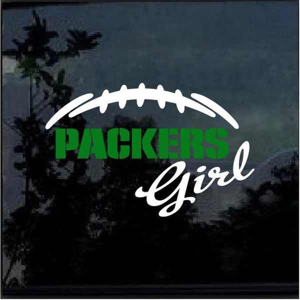Green Bay Packers Girl Window Decal Sticker