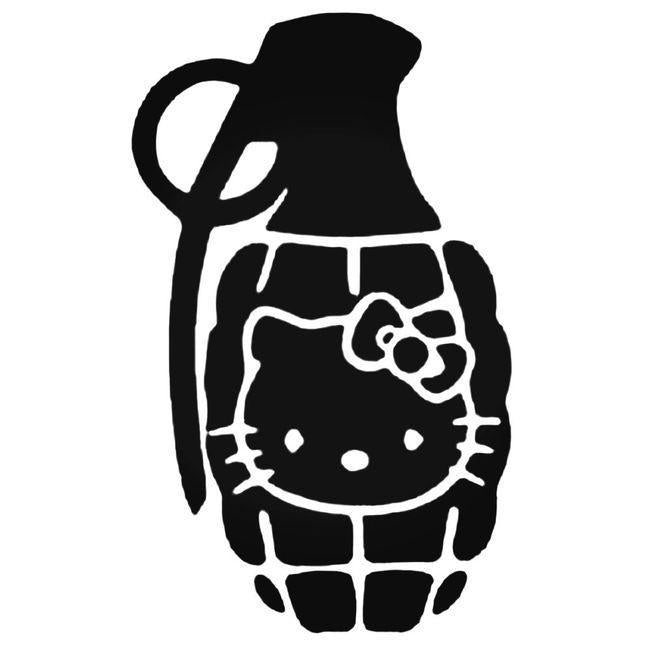 Grenade Hello Kitty Decal Sticker