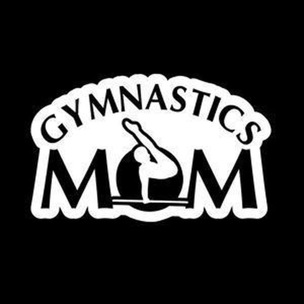 Gymnastics Mom a3 Window Decal Sticker