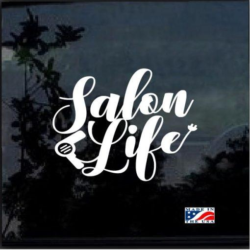 Hair Stylist Decals – Salon Life Hair Dryer car sticker