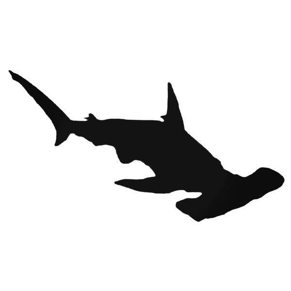 Hammerhead Shark Silhouette Decal Sticker