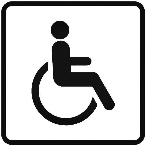 Handicap Wheelchair Car Sign Decal Sticker