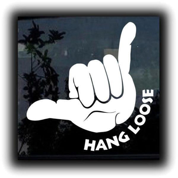 Hang Loose Shaka II Window Decal Sticker