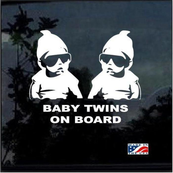 Hangover Carlos Twins – Baby on Board Sticker