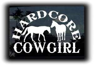 Hardcore Cowgirl Window Decal Sticker