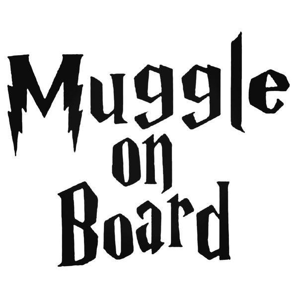 Harry Potter Muggle On Board Decal Sticker
