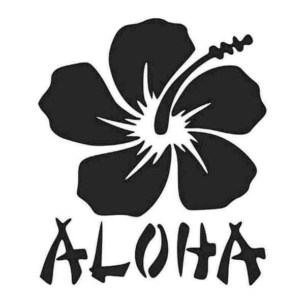 Hawaii Aloha Hibiscus Flower Plant Decal Sticker