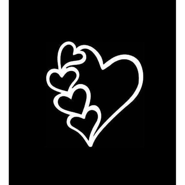 Heart Window Decal Sticker A2