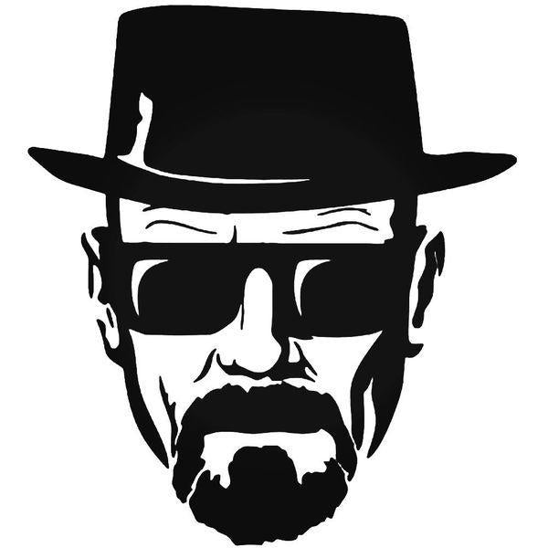 Heisenberg Cool Face Breaking Bad Decal Sticker