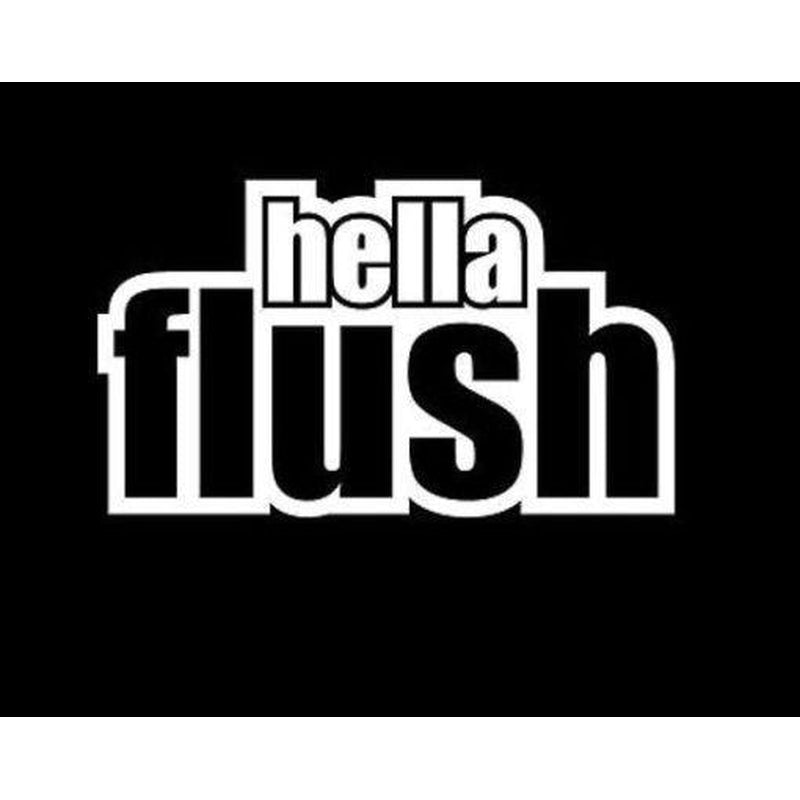 Hella Flush JDM Car Window Decal Stickers