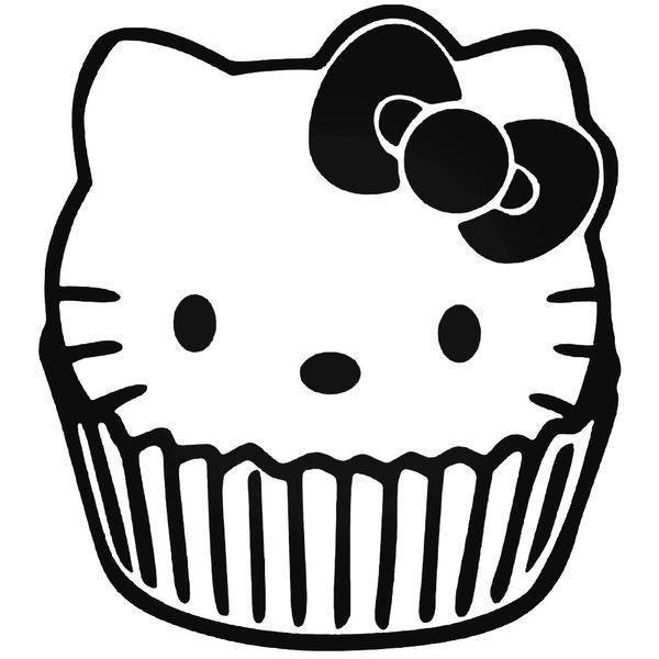 Hello Kitty Cake Jdm Car Decal Sticker