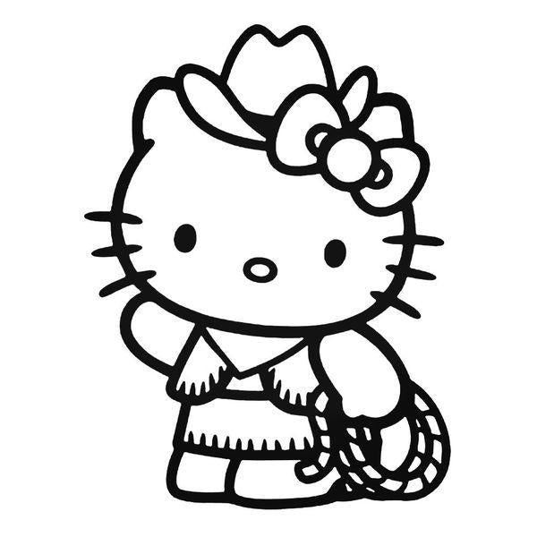 Hello Kitty Cowgirl Decal Sticker