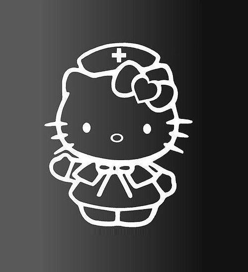 Hello Kitty Nurse Window Decal Sticker